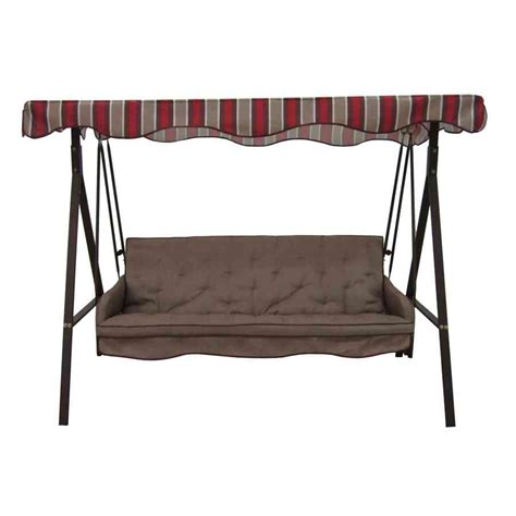 3 person cushion patio swing with canopy 3 person swing replacement cushions home furniture design