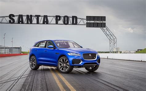 Jaguar F Pace 4k Wallpapers by 2016 Jaguar F Pace Two Wheeled Run Wallpaper Hd Car