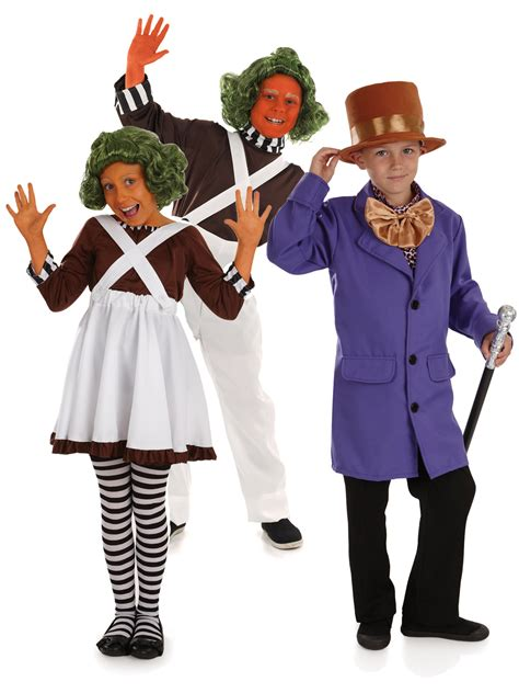 Kids Oompa Loompa Fancy Dress Costume Chocolate Factory
