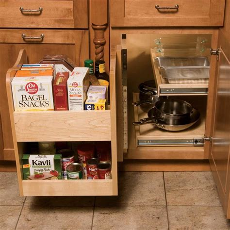 blind corner cabinet pull out omega national products kitchenmate blind corner caddy