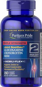 Puritan U0026 39 S Pride Triple Strength Glucosamine Chondroitin  U0026 Msm Joint Soother