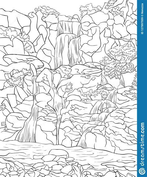 Dibujos De Paisajes De Montanas Y Rios Para Colorear