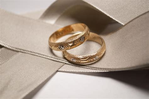 gold wedding ring with white gold design royalty free