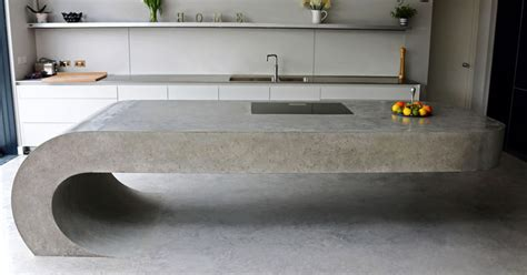 concrete island kitchen this concrete kitchen island ignores gravity contemporist 2424