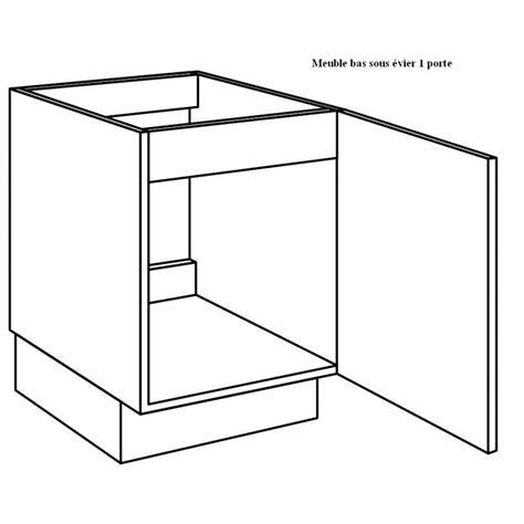 placard sous evier cuisine meuble sous évier de cuisine largeur 60cm