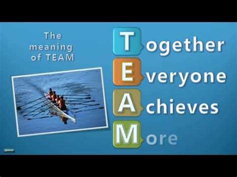 meaning  team   achieves