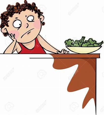 Eat Broccoli Cartoon Boy Did Want Dinner