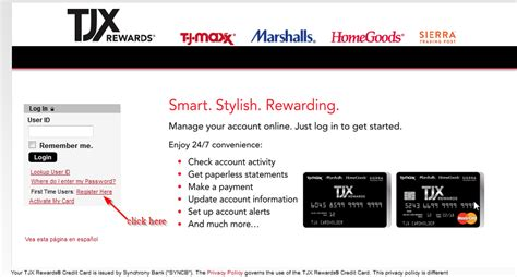 In other words, you can do the payment with or without the online account. TJ Maxx Credit Card Online Login - CC Bank