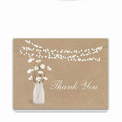 Thank Rustic Kraft Card Paper Theme Cotton