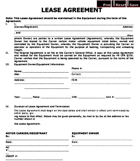 operator lease agreement template mous syusa