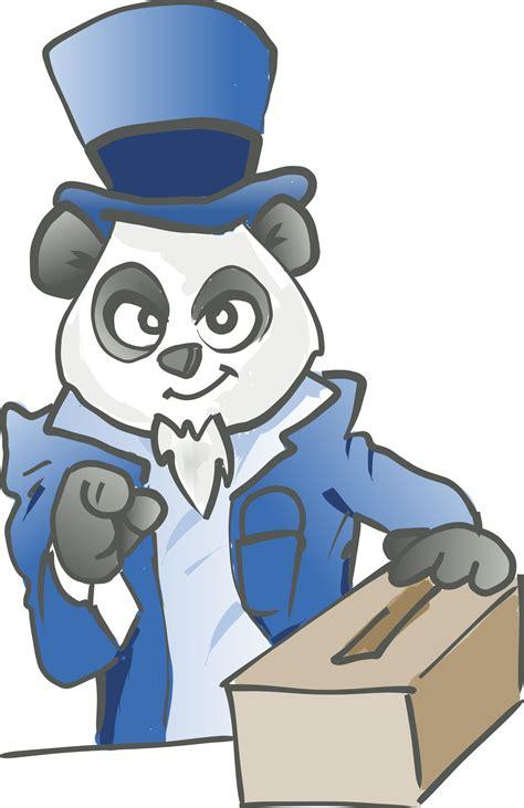 clipart vectors election panda vector clipart image free stock photo