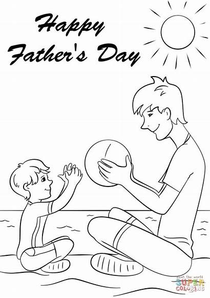 Coloring Happy Father Pages Fathers Printable Supercoloring