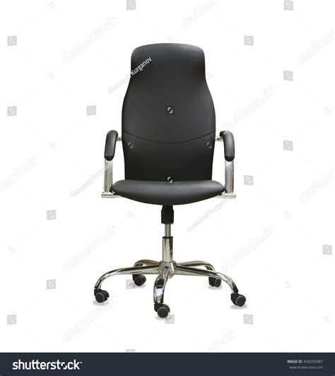 office chair black leather isolated stock photo 456595087