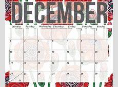 Calendar December 2018 Template Printable – 2018 Calendar