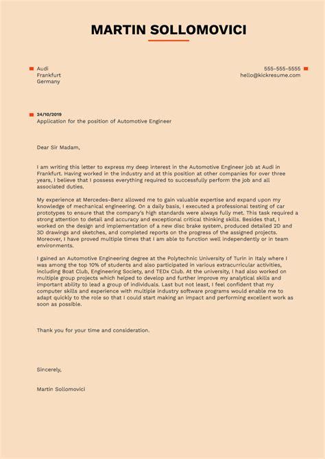 cover letter  job application  civil engineer
