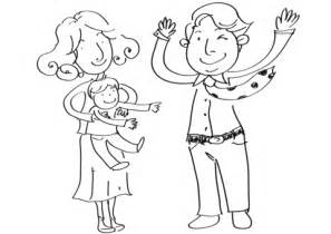 happy family coloring page  printable coloring pages