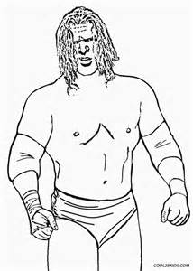 WWE Wrestling Printable Coloring Pages