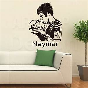 2016 Art design cheap home decor vinyl Neymar da Silva ...