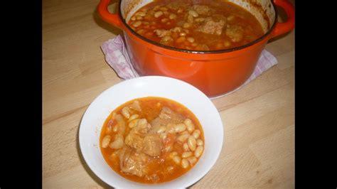 recette du ragout de potrine de porc aux haricots blancs