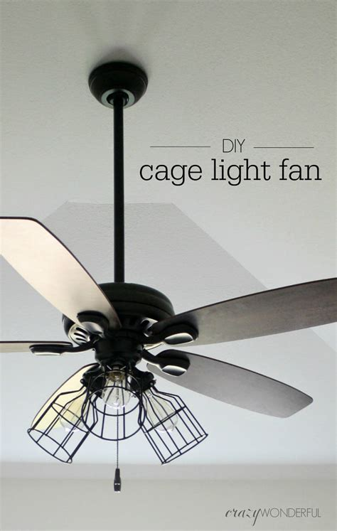 Fans With Lights by Diy Cage Light Ceiling Fan Wonderful