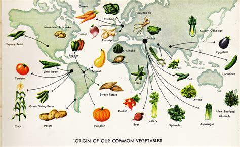 cuisine origin map of vegetable origins golden books large format hardbo flickr