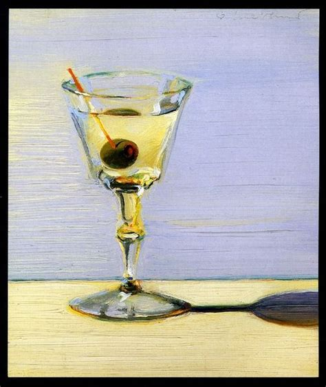 Martini with Olive Wayne Thiebald | Martini, Glassware ...