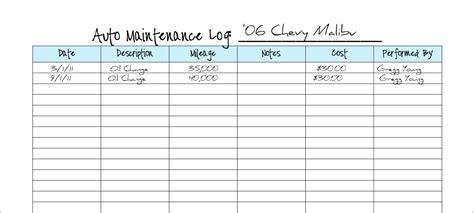keeping  vehicle maintenance log