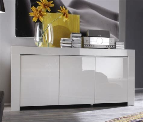 Sideboard And Display Cabinet by Rimini Collection Three Door Sideboard White
