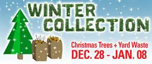 live christmas tree disposal winter yard waste collection metro waste authority providing