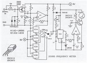 Sound Frequency Meter Circuit