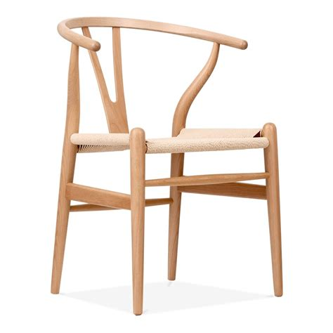 chaises design bois hans wegner style wishbone chair in wood cult furniture