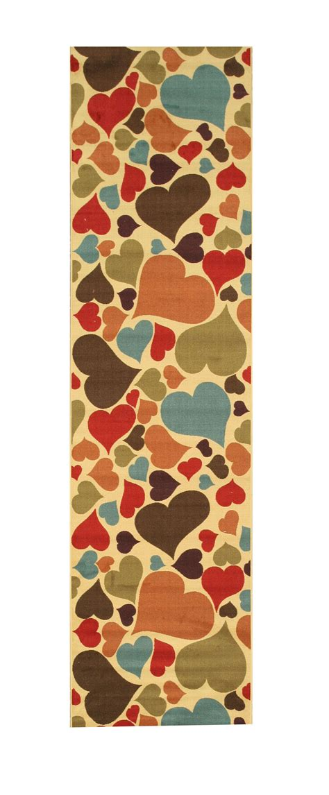 EORC Os5060Iv Ivory Hearts Rug & Reviews Shoppypal