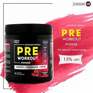 Buy Healthvit Fitness Pre-workout Explosive Energy Powder
