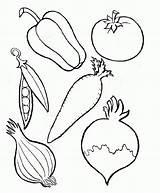 Vegetables Coloring Vegetable Pages Popular Kinds sketch template