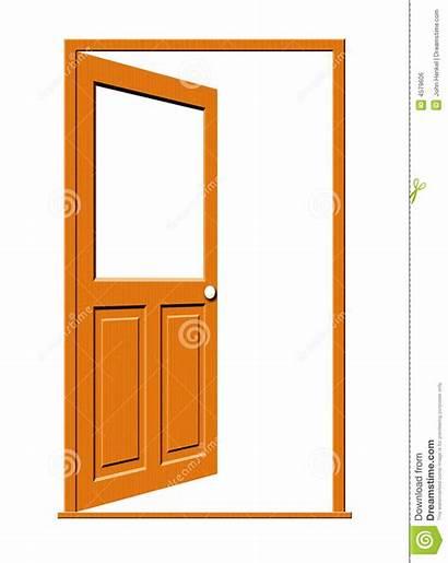 Door Open Clipart Window Wooden Wood Blank