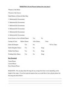 wedding reception itinerary wedding event dj itinerary worksheet in word and pdf