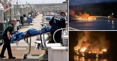 divers find  bodies  california boat fire