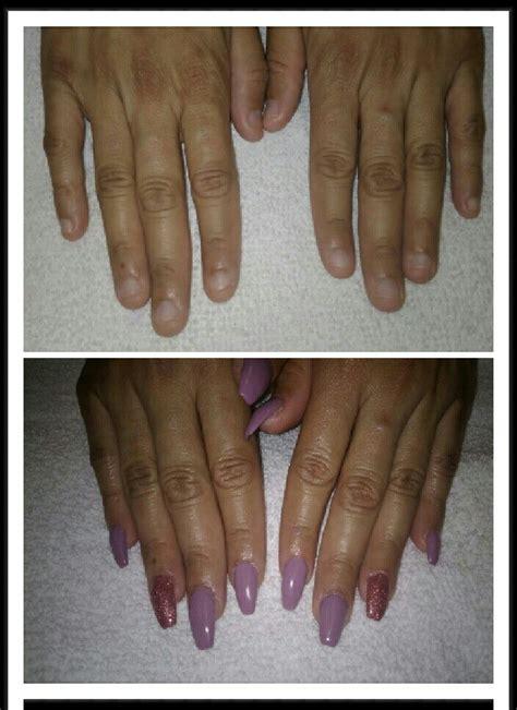small nail beds acrylic nails