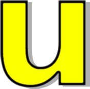 lowercase u clipart lowercase u yellow signs symbol alphabets numbers