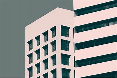 Building Minimal Facade Architecture Modern Abstract Deta