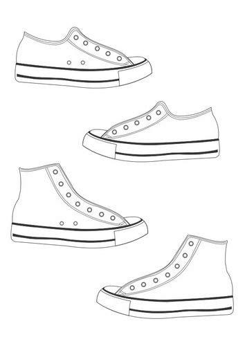 Hakken Schoenen Kleurplaat by Kleurplaat Schoenen Thema Schoenen Schoenen