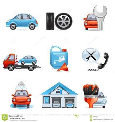 car service car service icons in a frame series cartoon vector