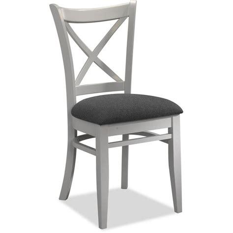 chaise blanc et bois lot de 4 chaises tissus gris et bois blanc achat vente