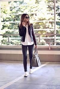 Tenue A La Mode : la veste en cuir 89 id es comment la porter ~ Melissatoandfro.com Idées de Décoration