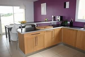 beau cuisine ouverte avec bar unique design a la maison With cuisine en l avec bar
