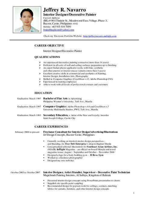 resume sle for philippines resume resumes design