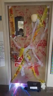 sagonaska school halloween door decorating contest
