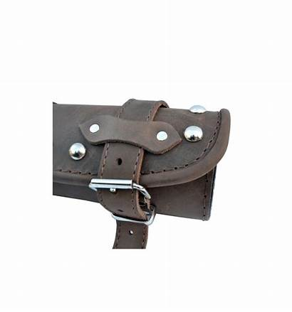 Tool Leather Roll Bag Brown Genuine Studded