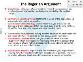 rogerian essay structure
