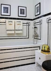 art deco bathrooms design ideas With art deco black and white bathroom